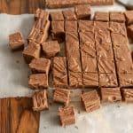 chocolate fudge cut into squares
